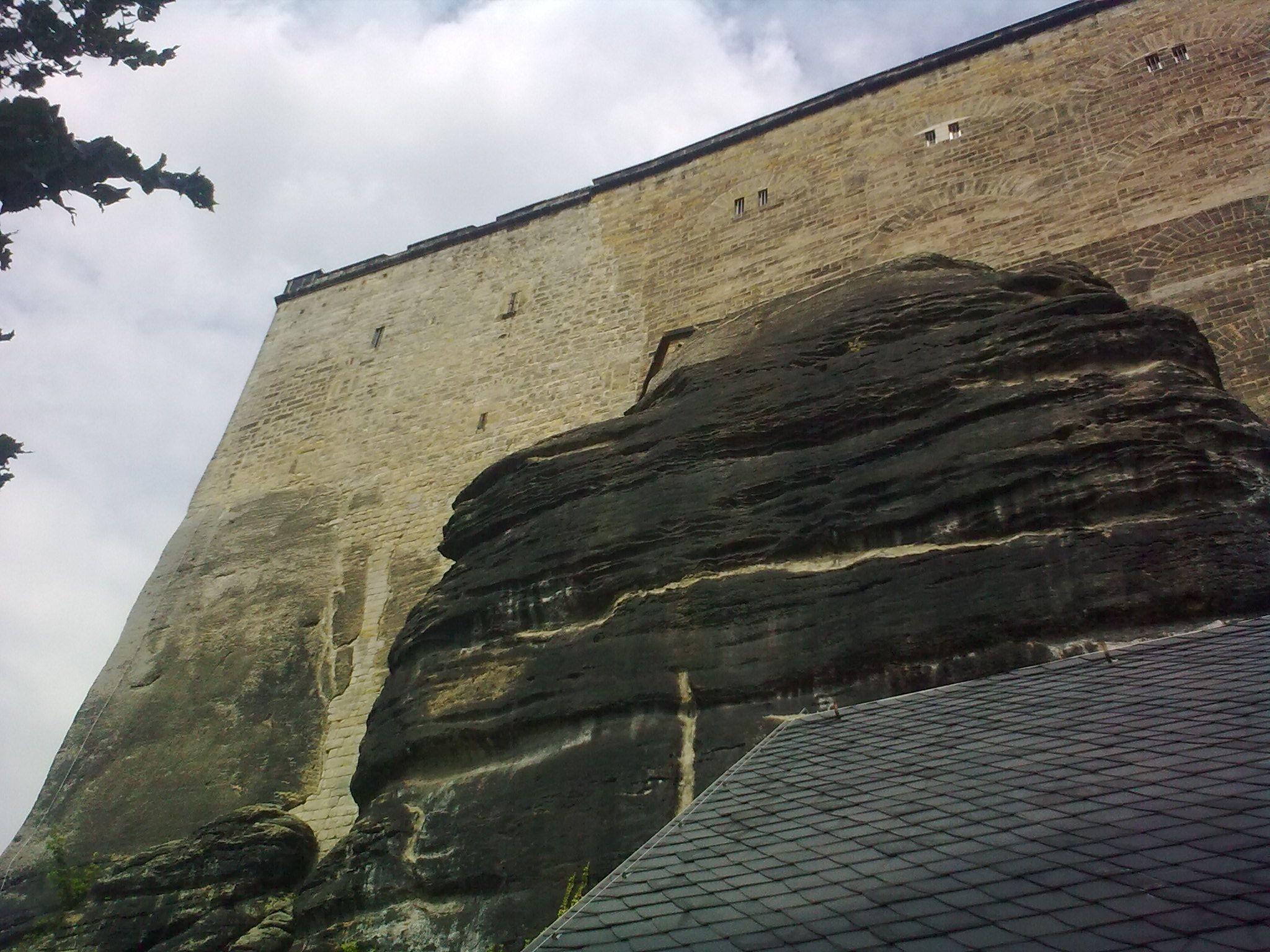 Königstein, várfal alulról