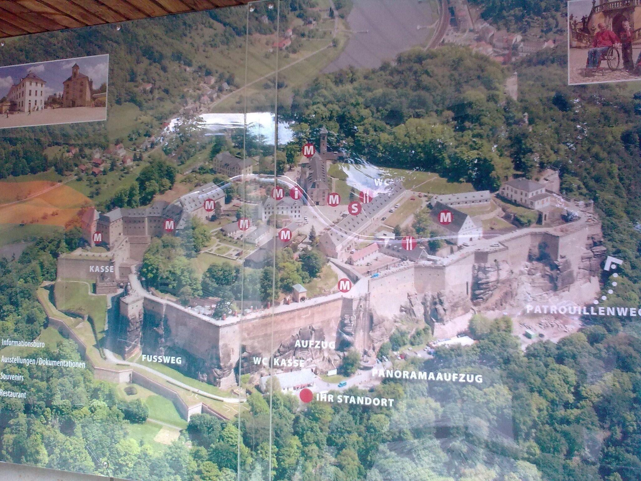 Königstein, útbaigazító tábla