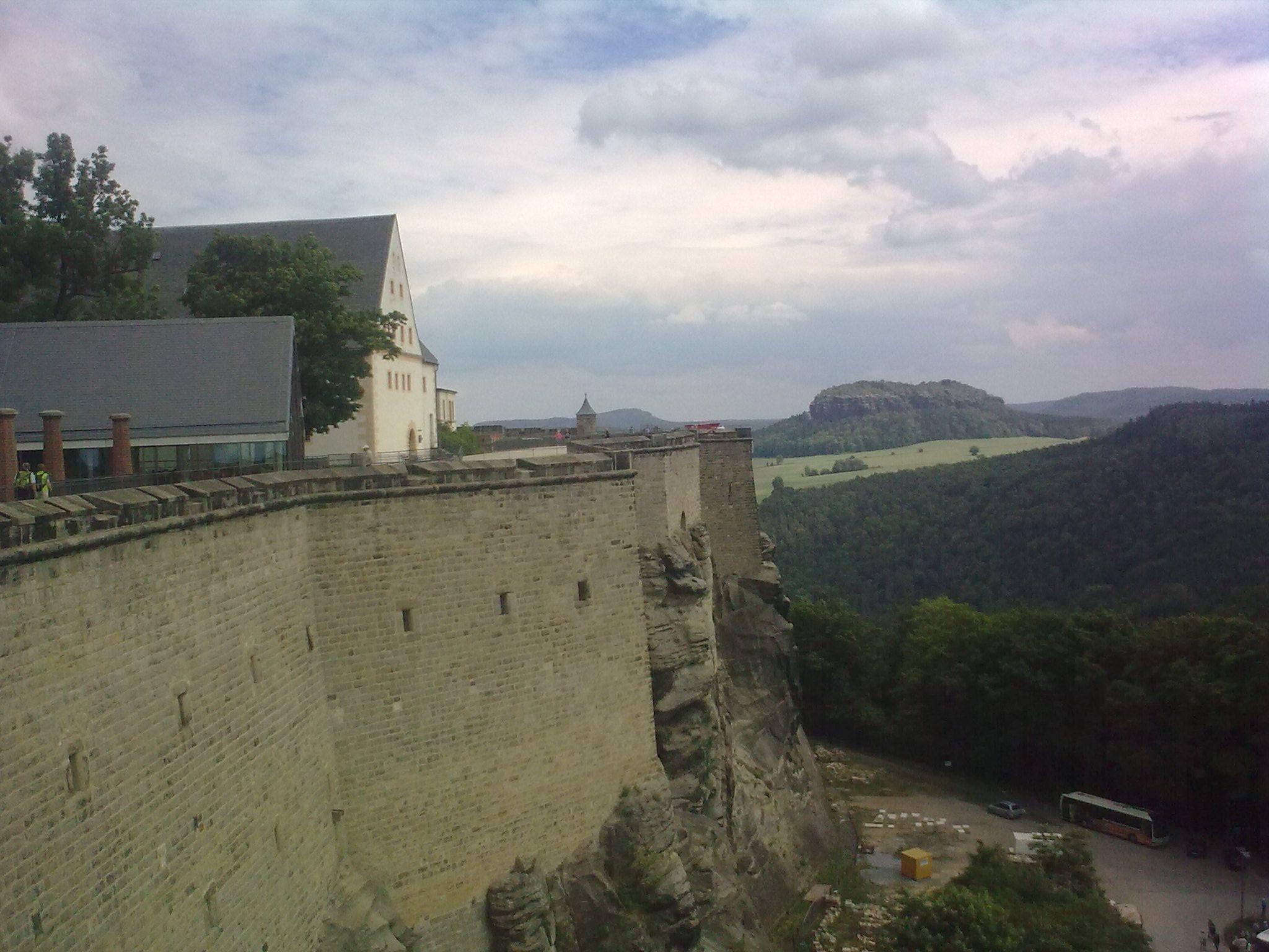 Königstein, várfal