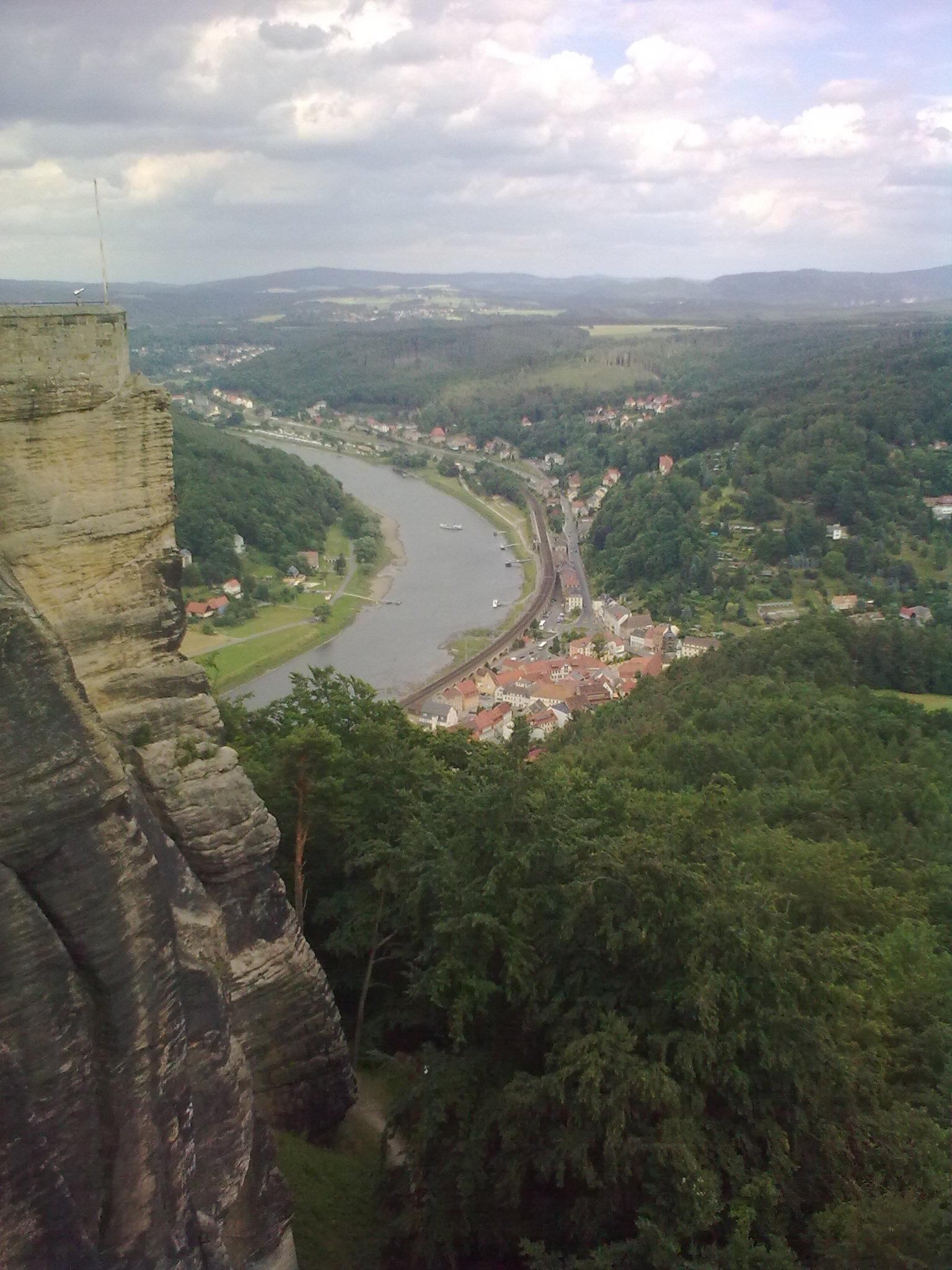 Königstein, panoráma a várból