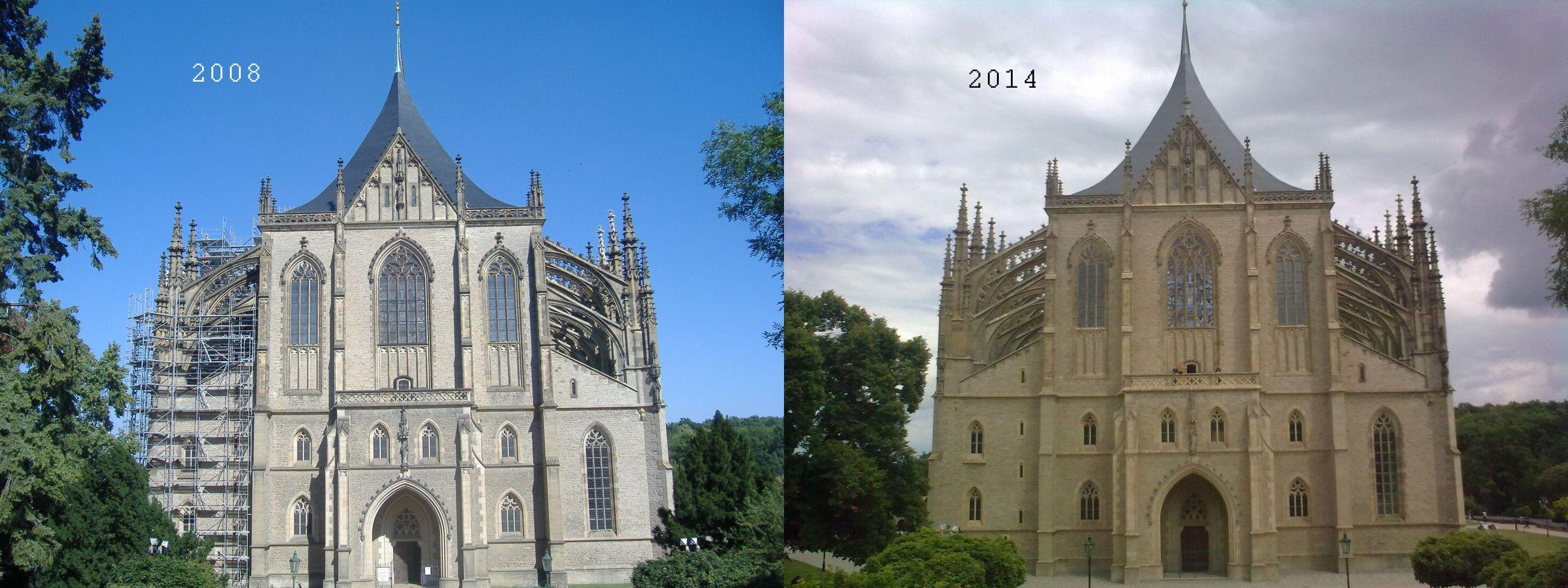 Kutna Horá, Szent Barbara Katedrális 2008-ban és 2014-ben