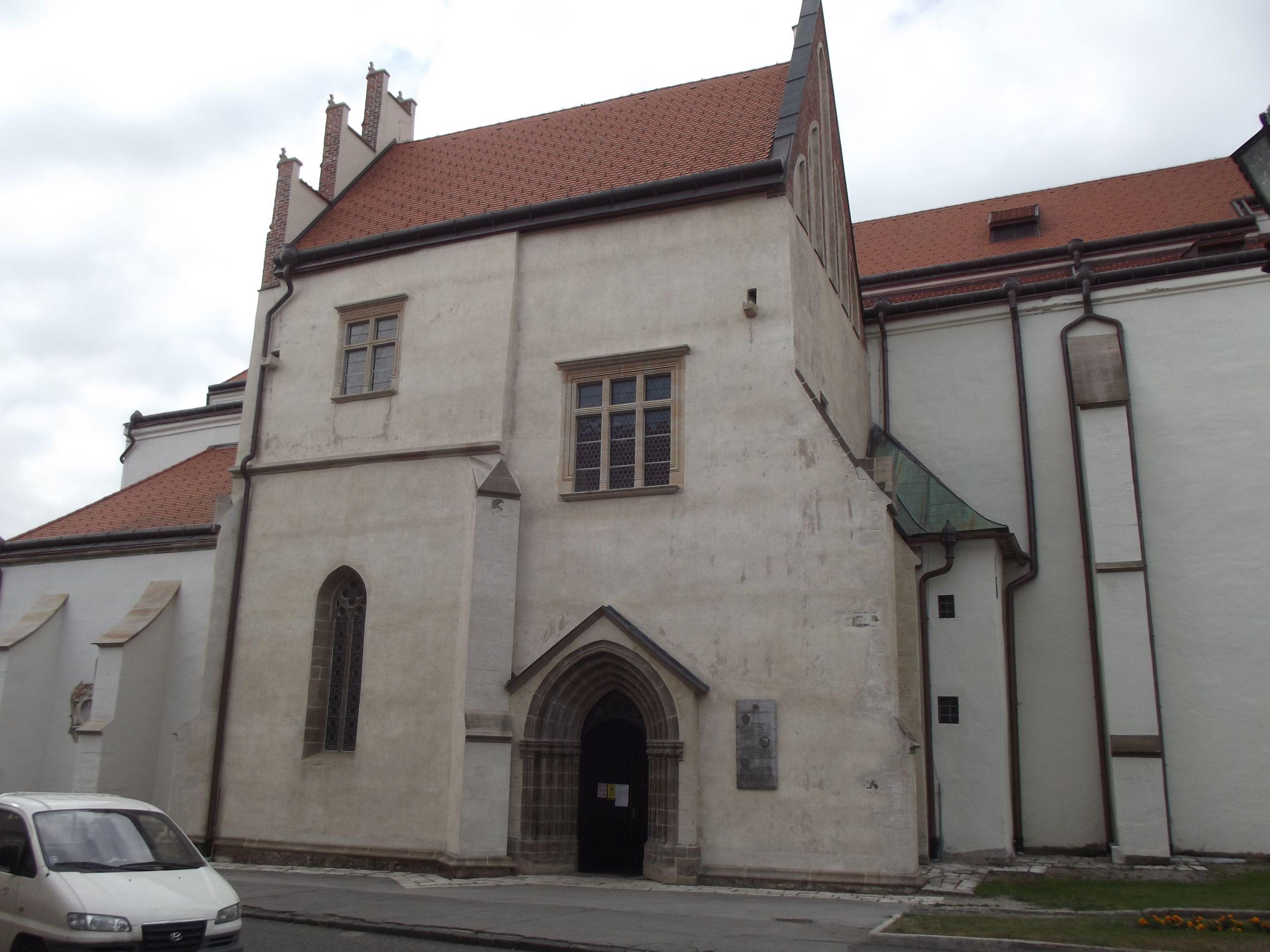 A Szent Jakab templom bejárata