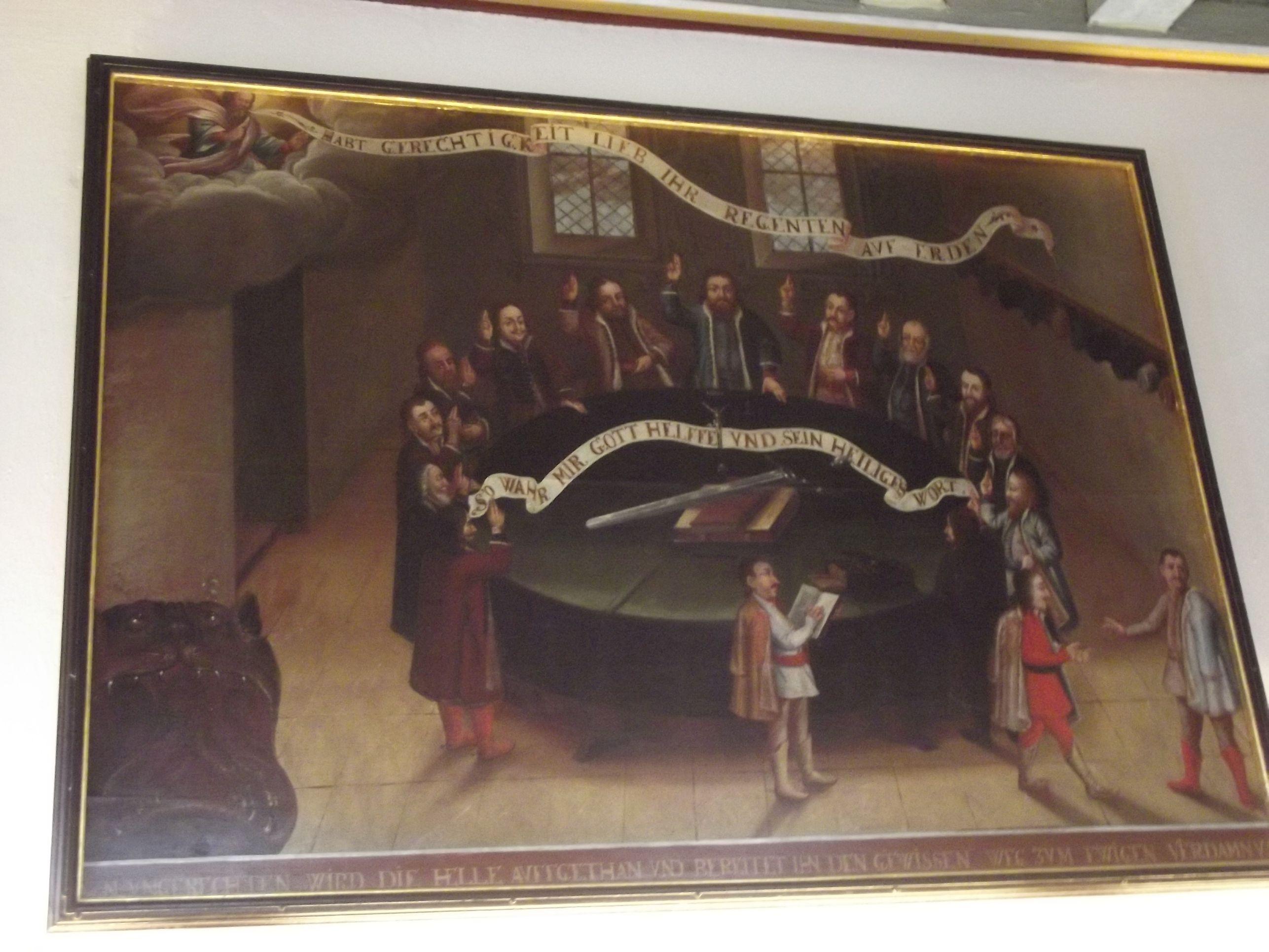 A Városháza egyik festménye