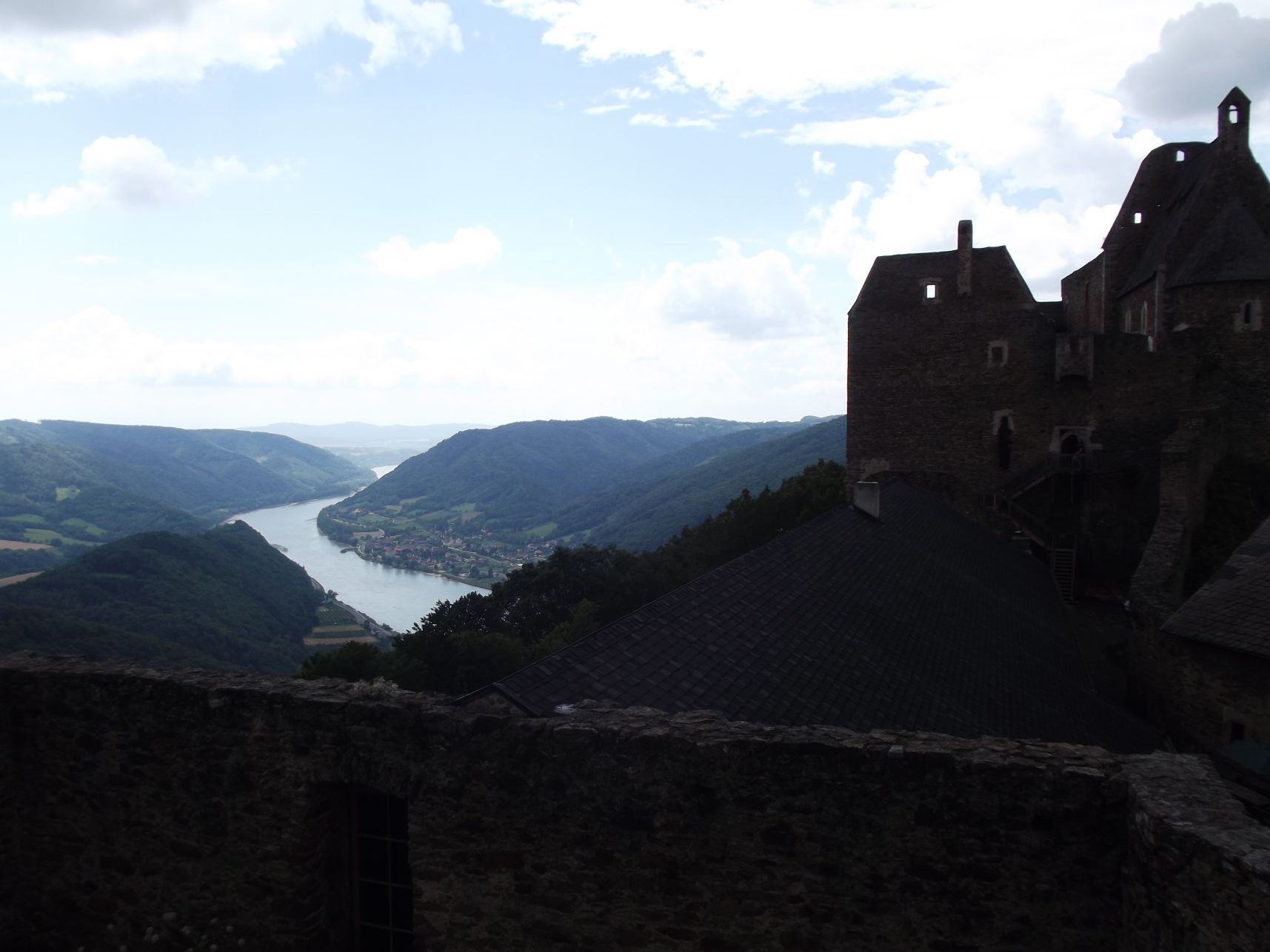 Aggstein, a vár és a panoráma