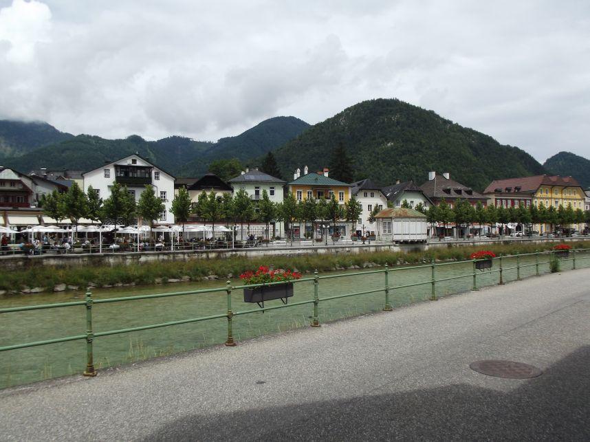 Bad Ischl, villák a Traun partján