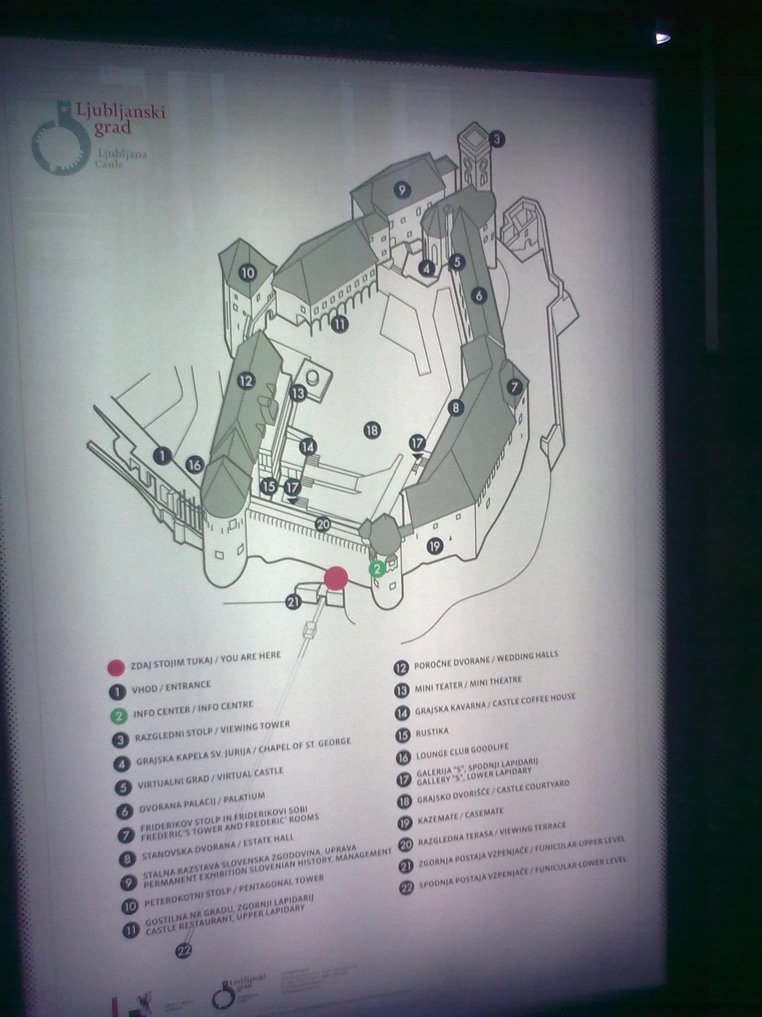 Információs tábla a várban
