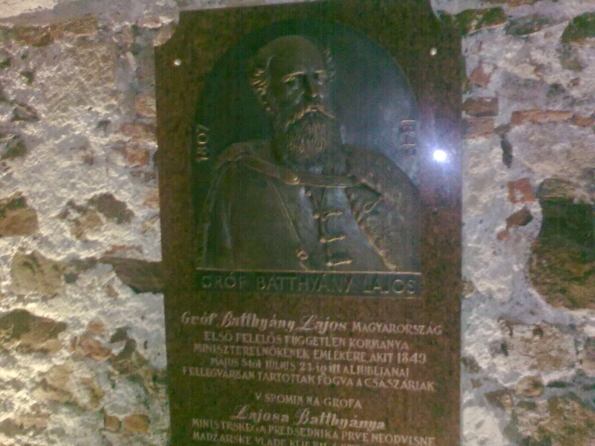 Batthyány Lajos emléktáblája