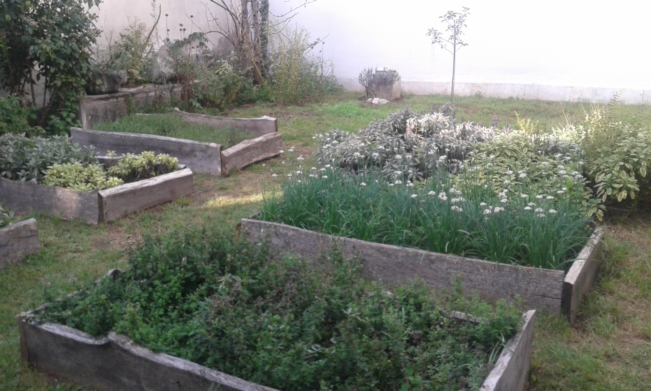 Egy cellaház kertje