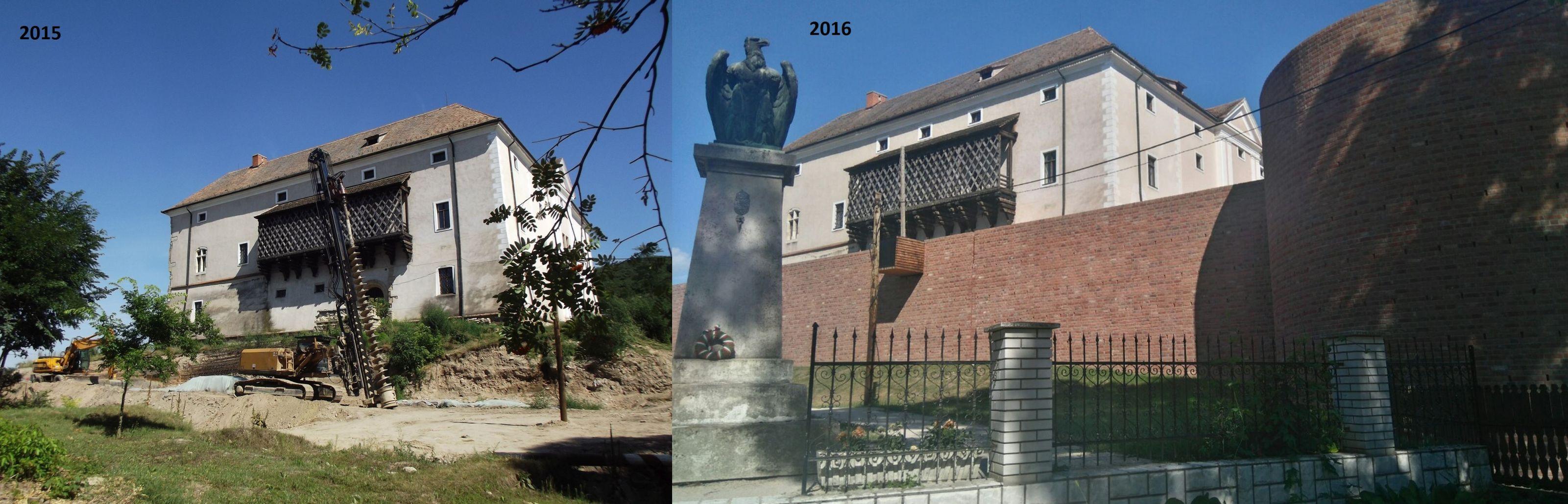 A várfal 2015-ben és 2016-ban