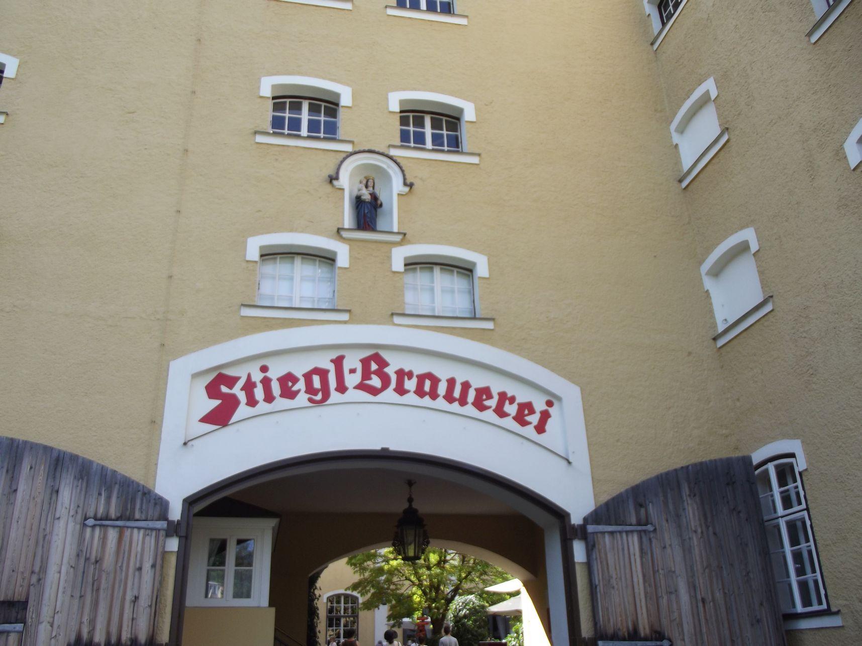Stiegl Sörfőzde, bejárat