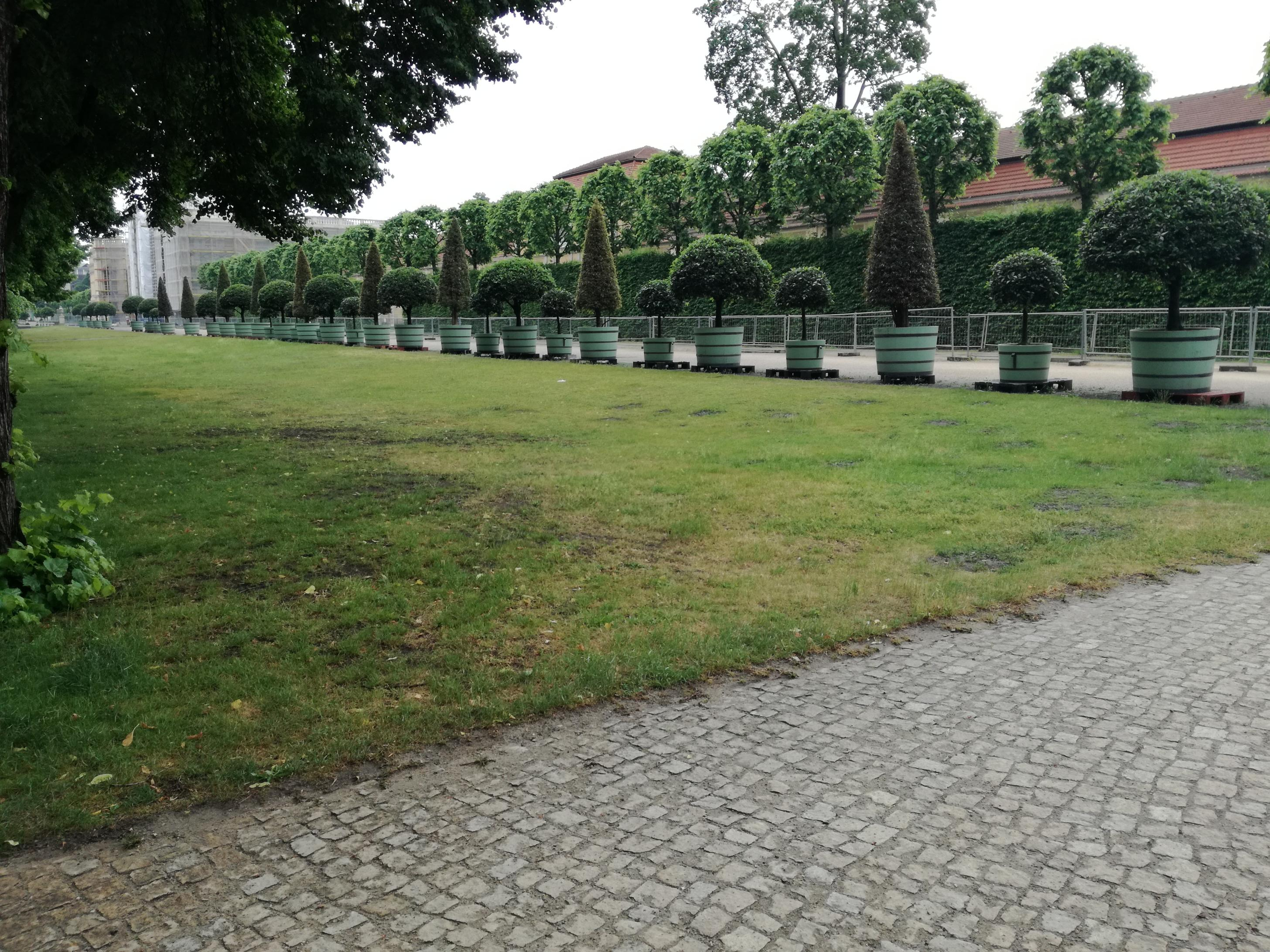 A kastély parkja