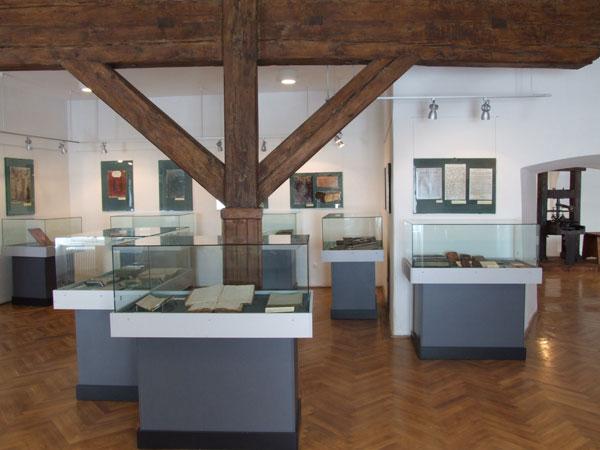 A ferences nyomda kiállítása (Forrás: www.csszm.ro)