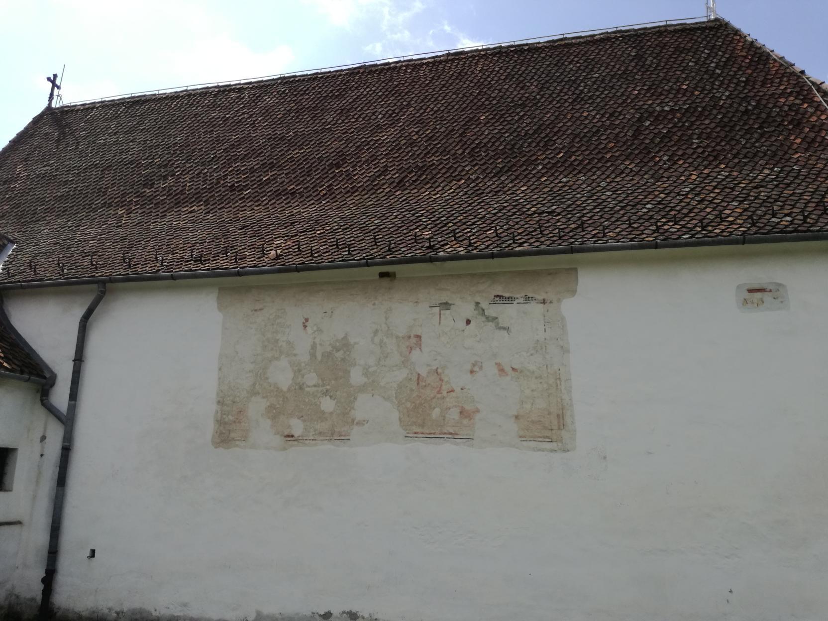 Freskó a külső falon