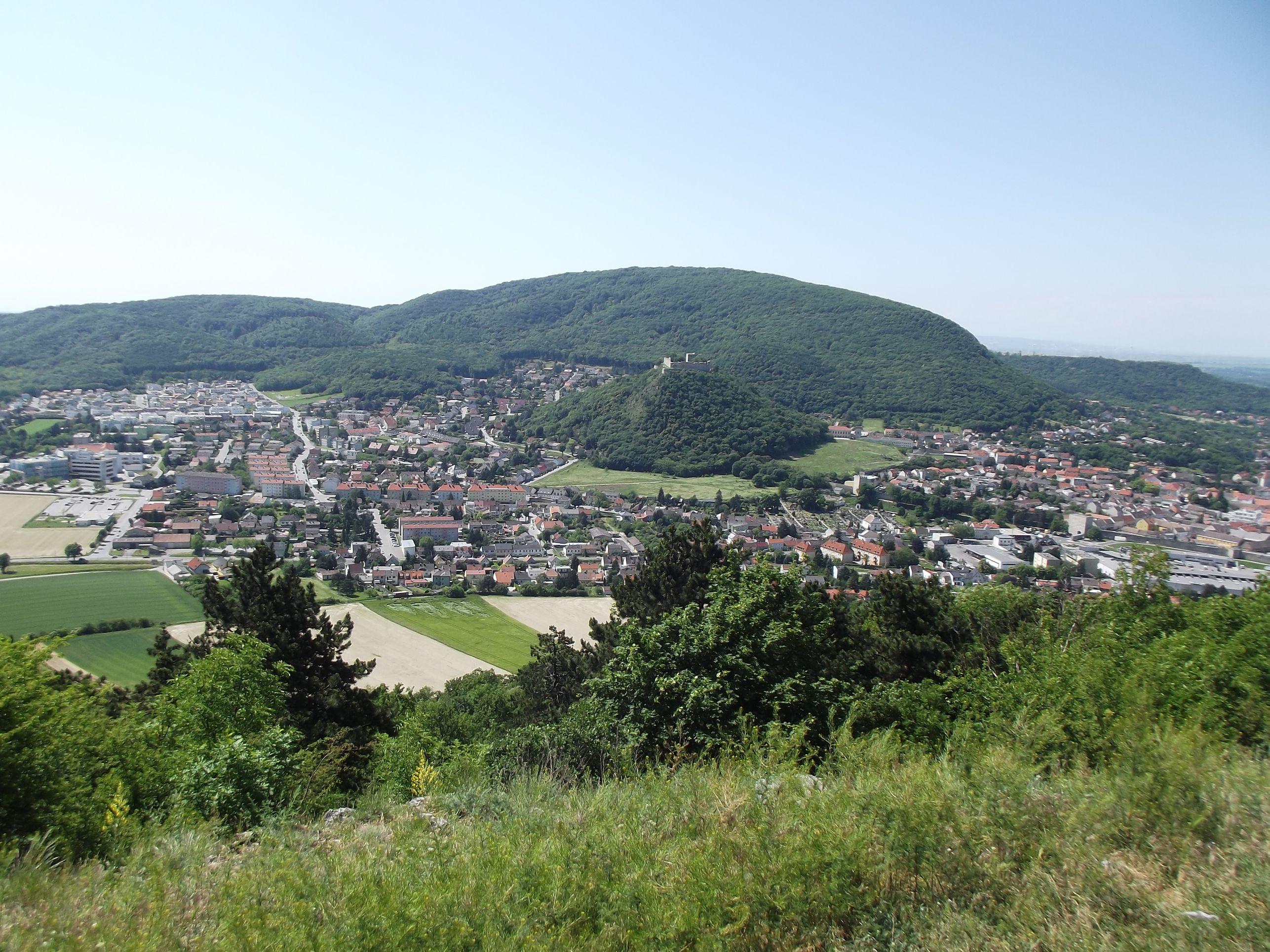 Hainburgi fellegvár a Braunsbergről