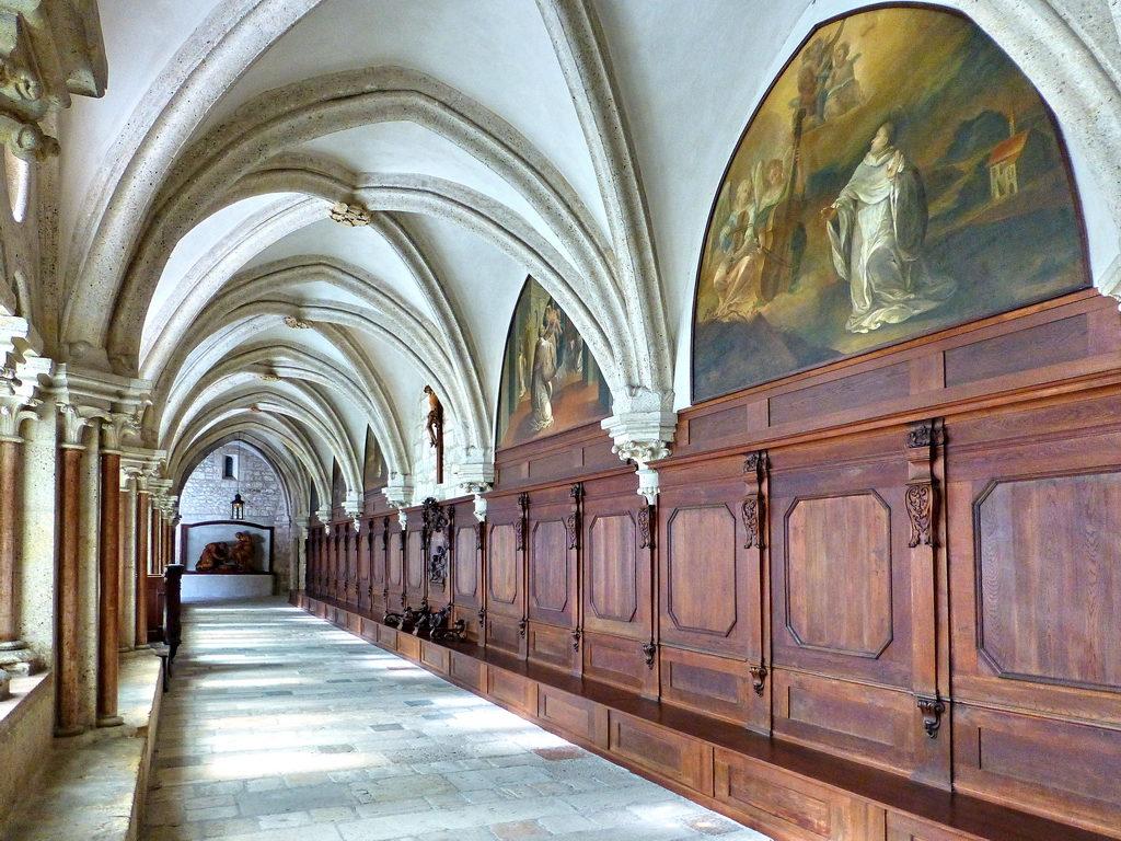 A felolvasó folyosó (Forrás: www.stift-heiligenkreuz.org)