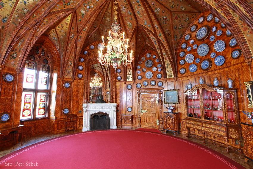 Reprezentációs terem (Forrás: www.zamek-hluboka.eu)