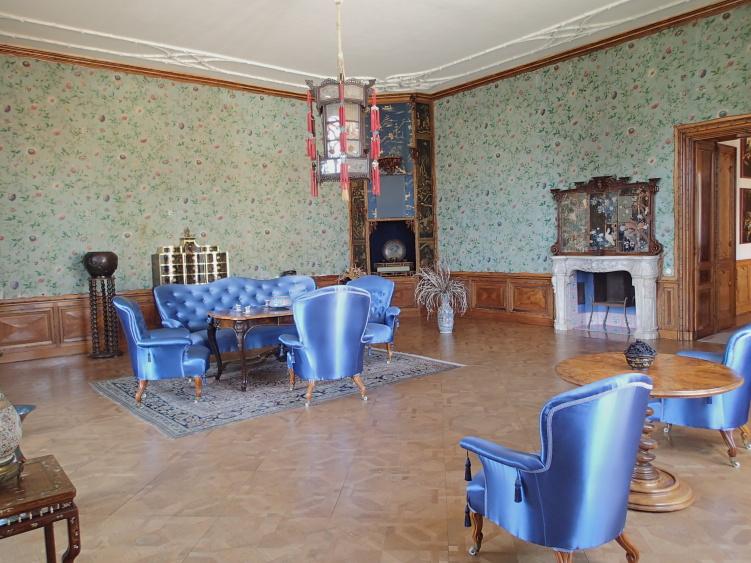 A kék szoba (Forrás: www.zamek-lednice.com)