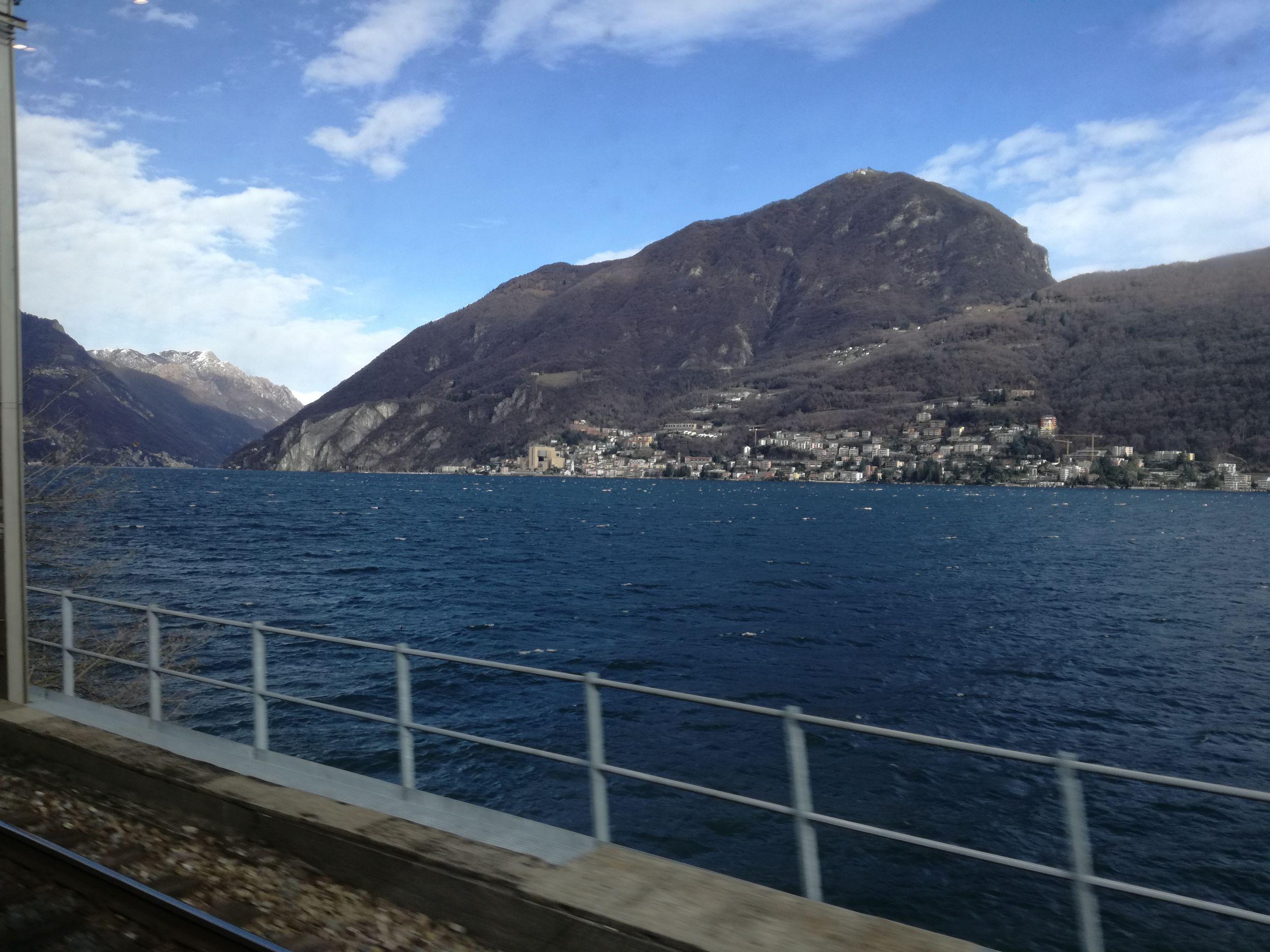 Campione d'Italia a vonatból