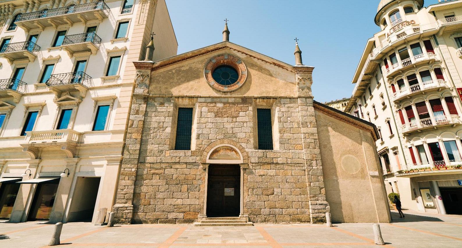 A Santa Maria degli Angioli templom (Forrás: www.luganoregion.com)