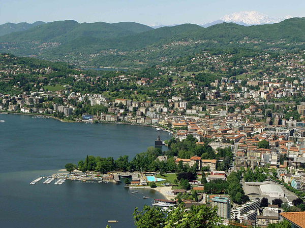 Kilátás a Monte Bréről (Forrás: www.destinations.lugano.ch)