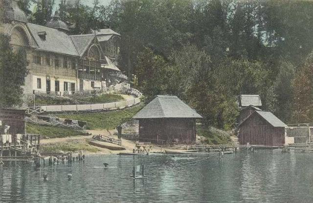 A tópart régen (Forrás: www.primariasovata.ro)