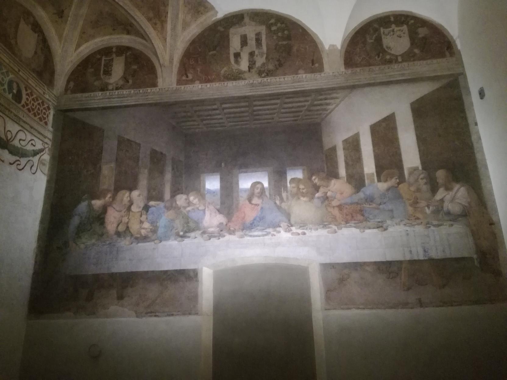 Az Utolsó vacsora, balra a kis kerek kép Szent Margit