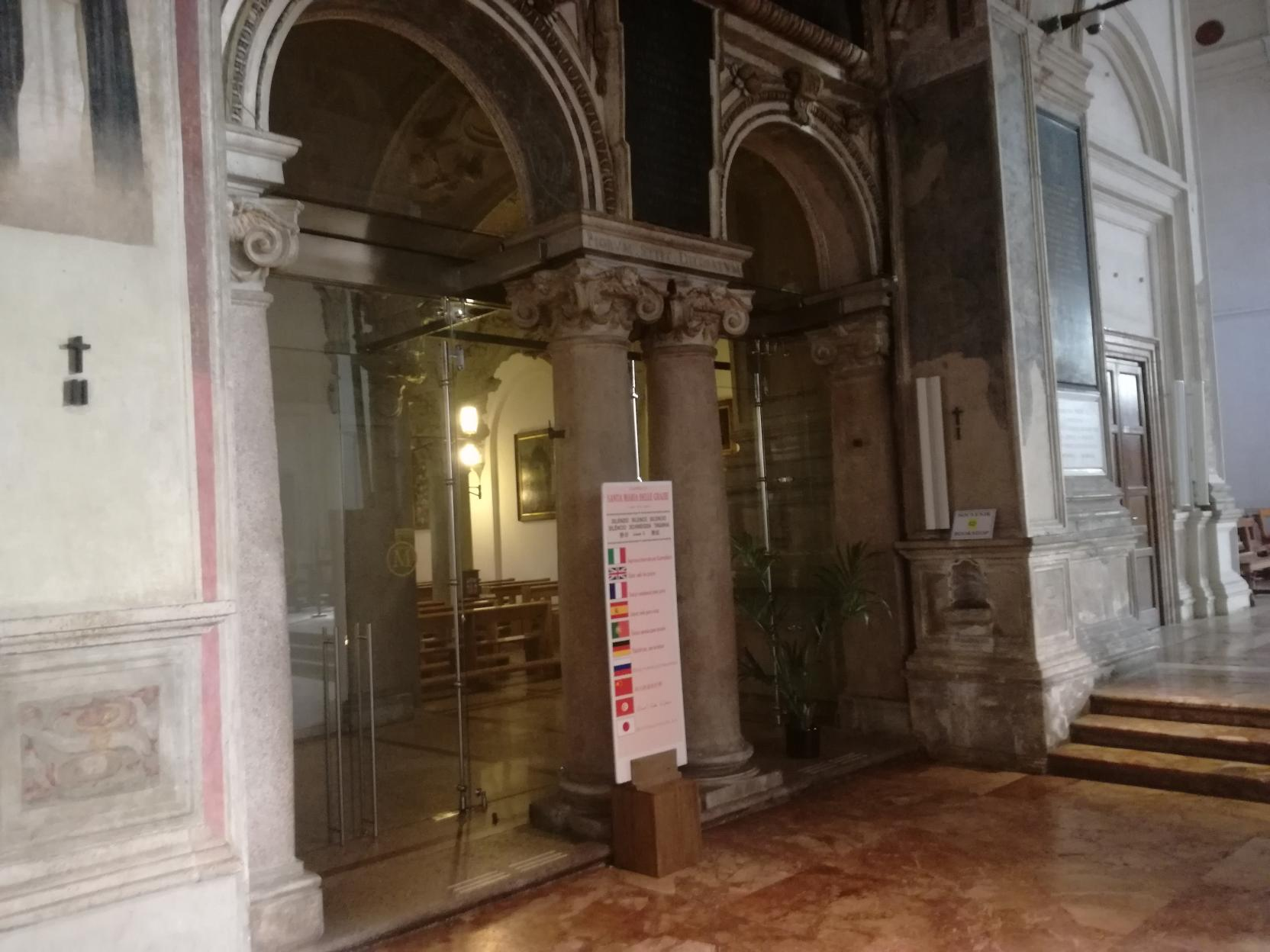 Santa Maria delle Grazie, hely azoknak, akik misén kívül is nyugodtan szeretnének imádkozni