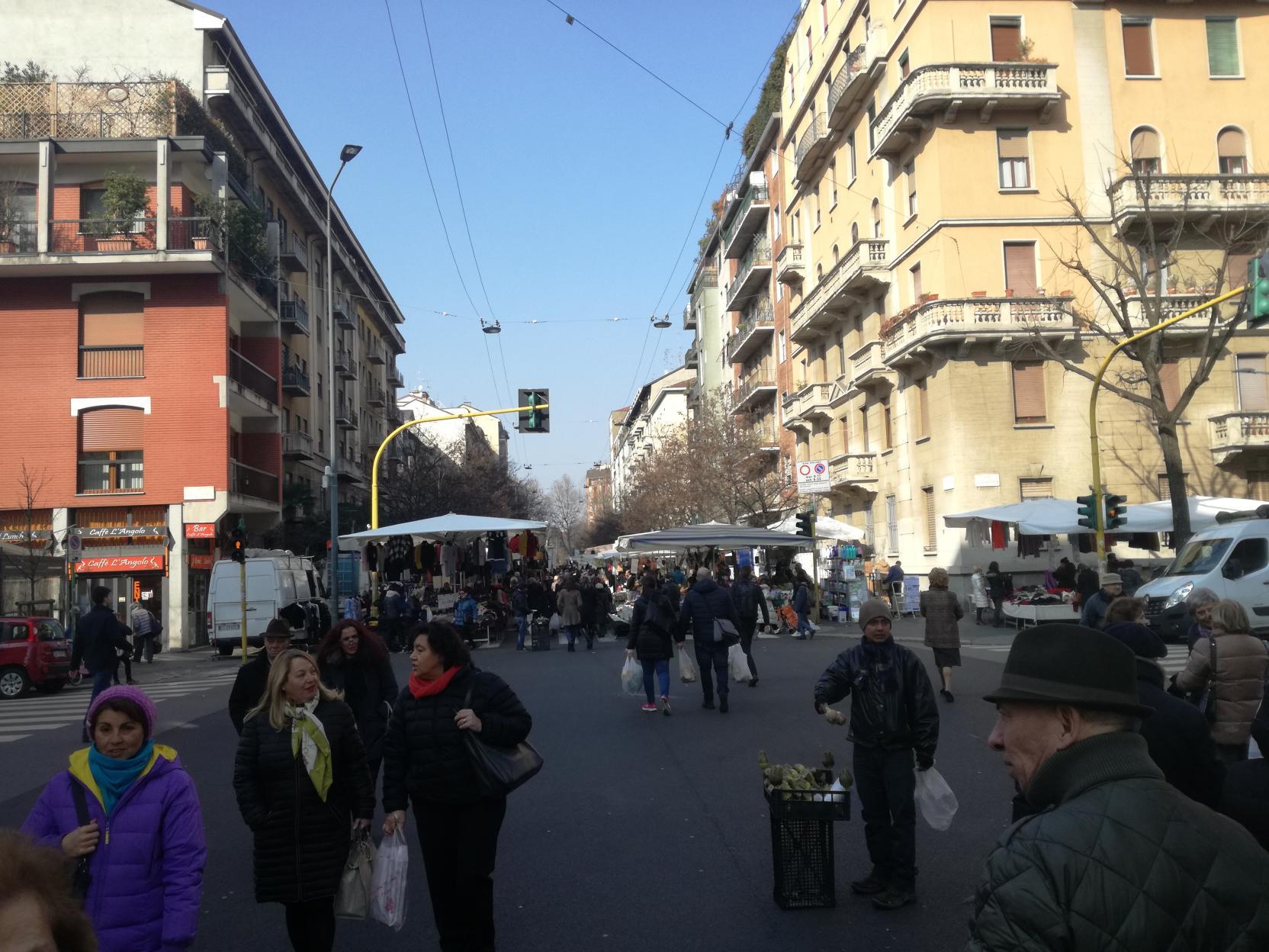 Via Fauché, a piac