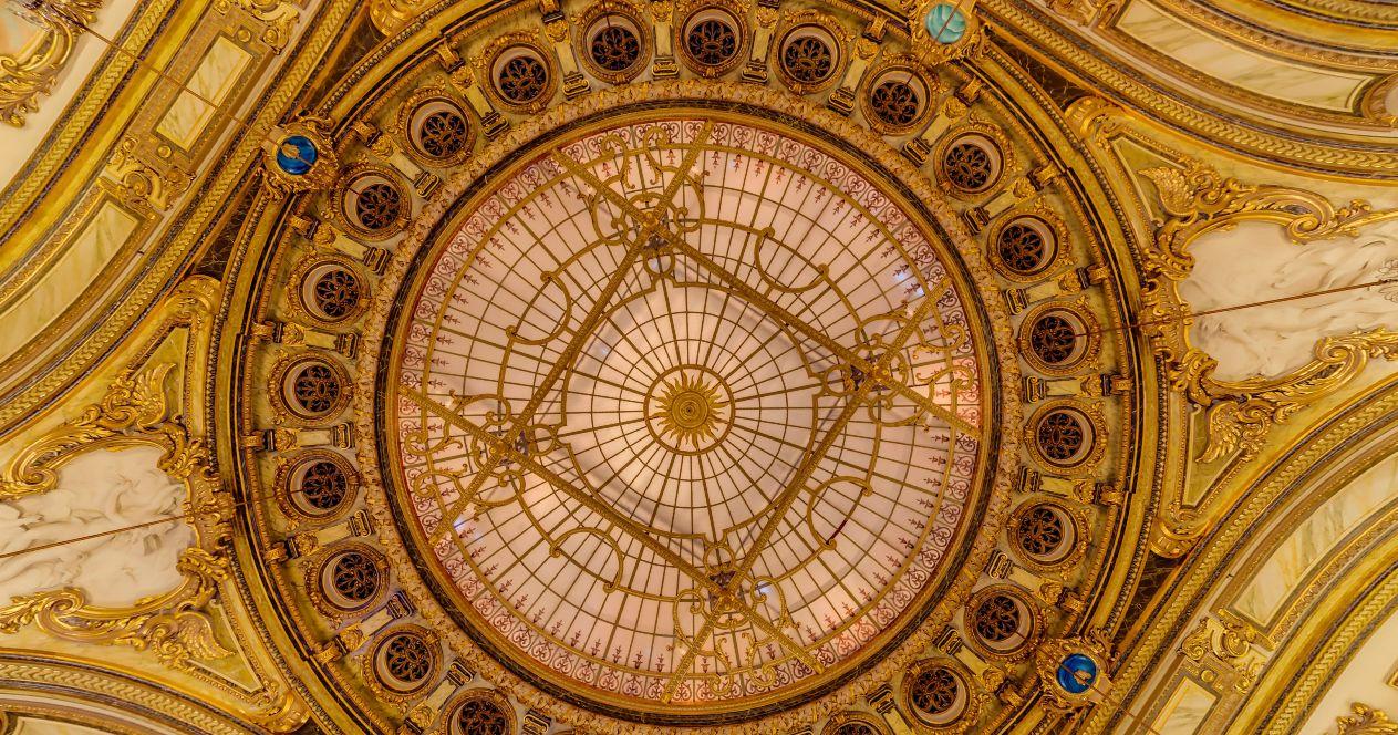 Az Európa terem mennyezete (Forrás: www.casinomontecarlo.com)