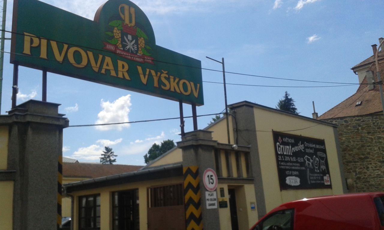 A Pivovar Vyškov bejárata