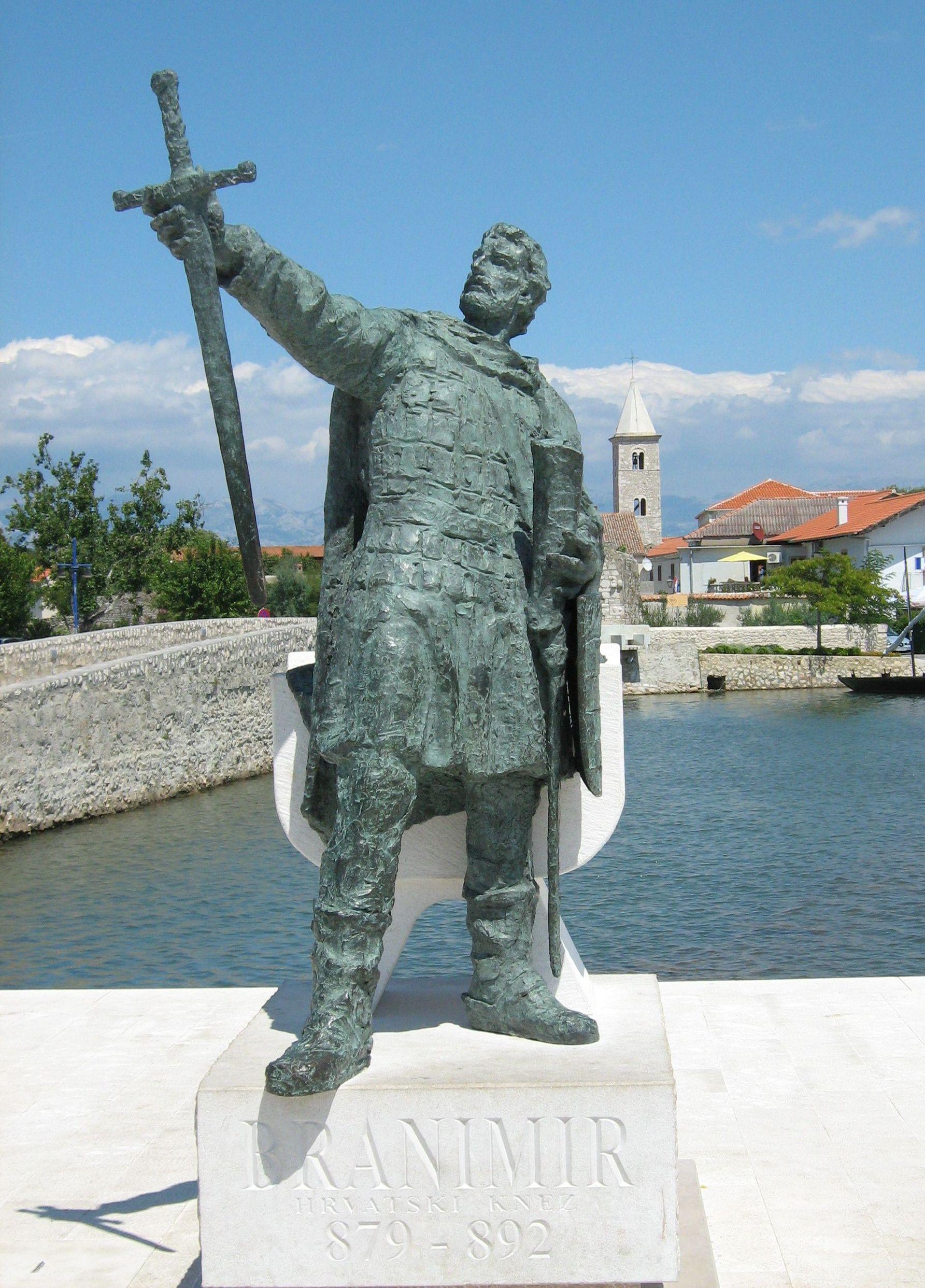 Branimir fejedelem szobra (Forrás: www.wikipedia.org)