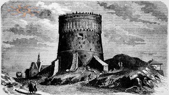 A Kerek torony régen (Forrás: www.castles.com.ua)