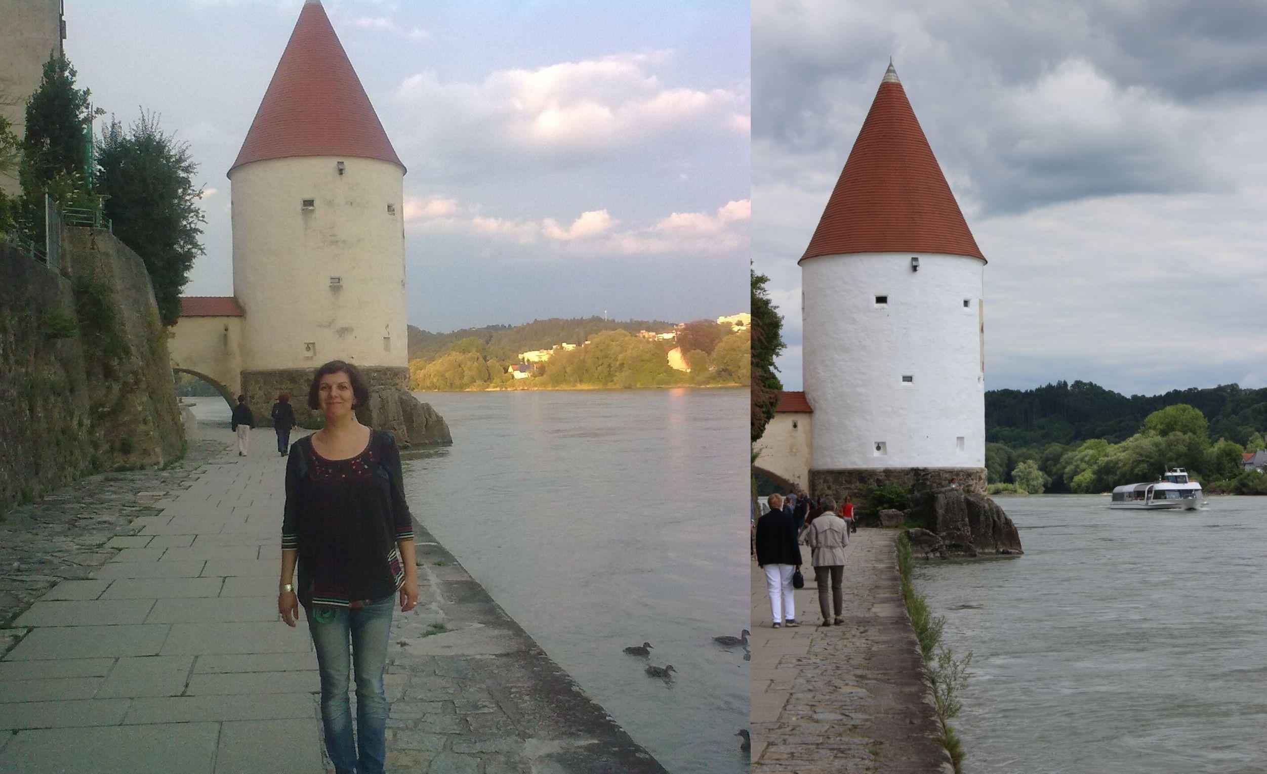A Schaiblingsturm 2011-ben és a 2013-as árvíz után felújítva (A második kép forrása: www.passau.de)