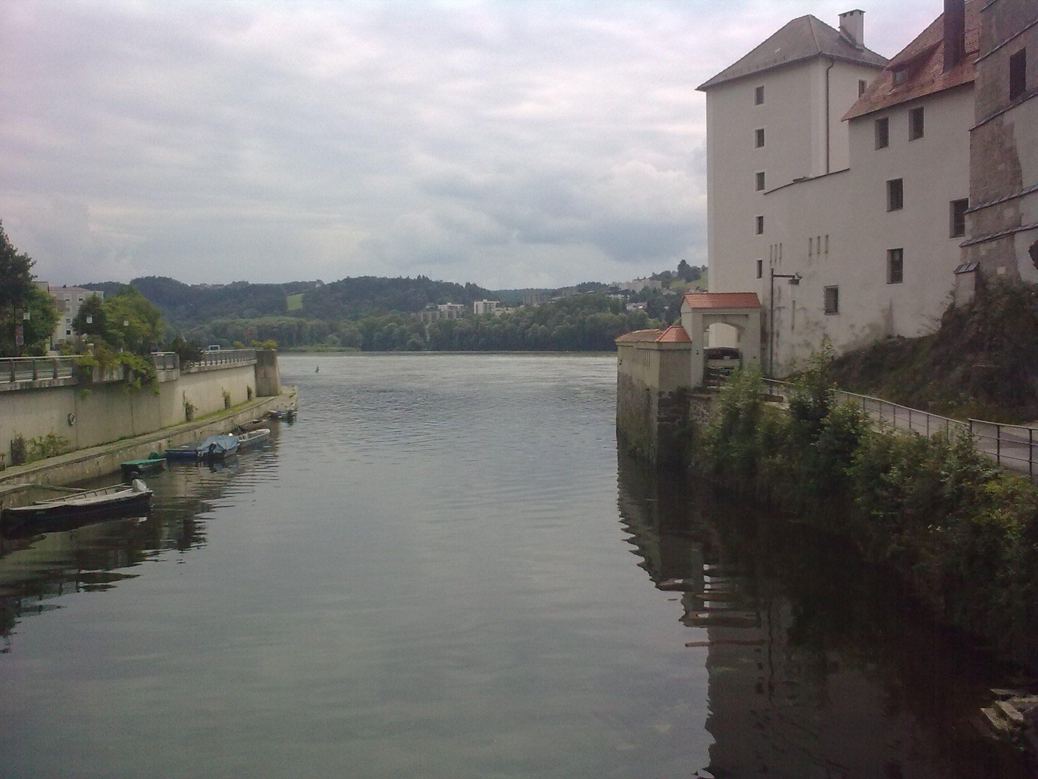 Az Ilz itt torkollik a Dunába