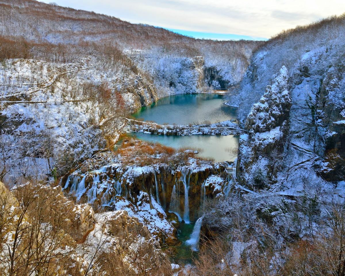 Télen (Forrás: www.np-plitvicka-jezera.hr)