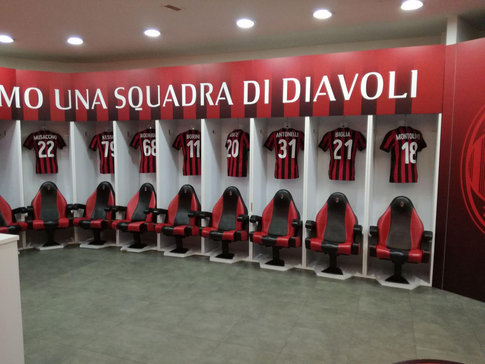 A Milan öltözője