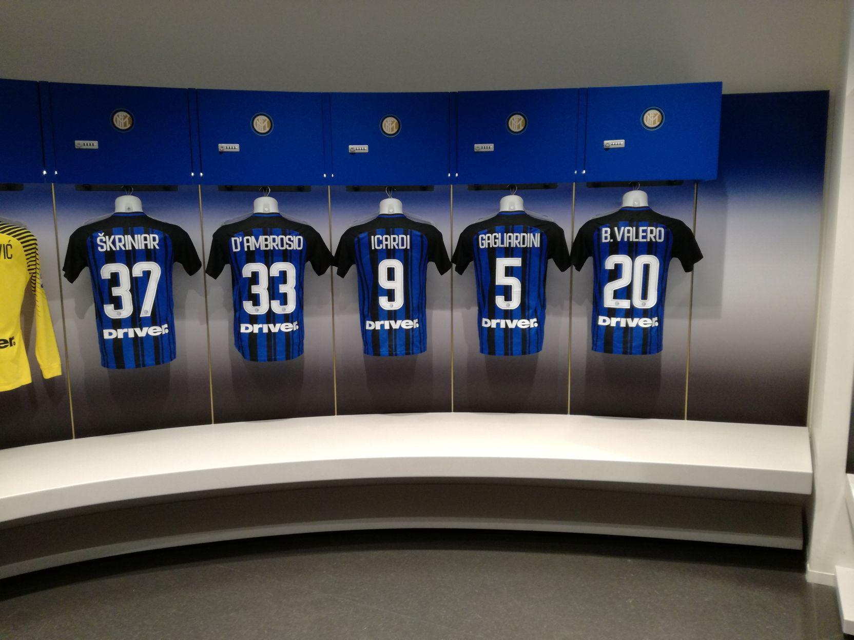 Az Inter öltözője