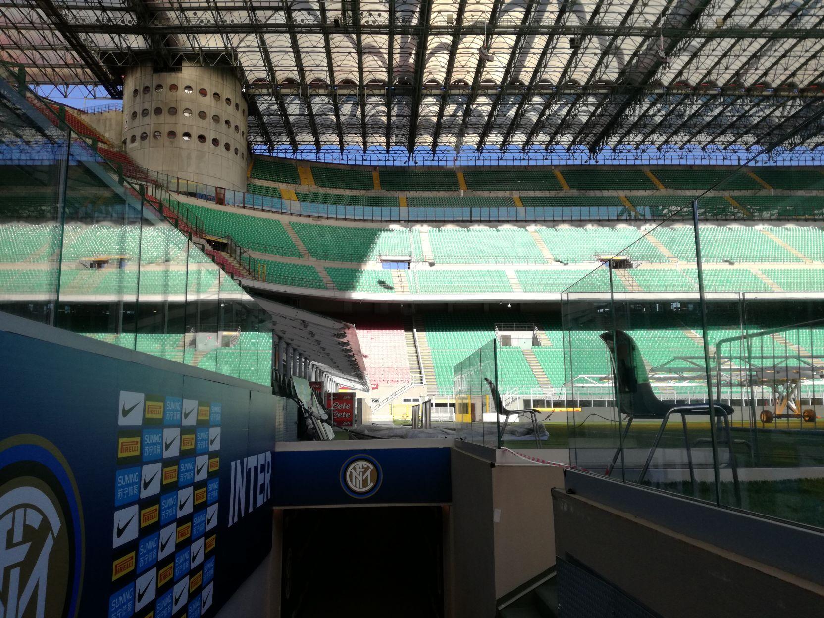 Az Inter kispadjánál