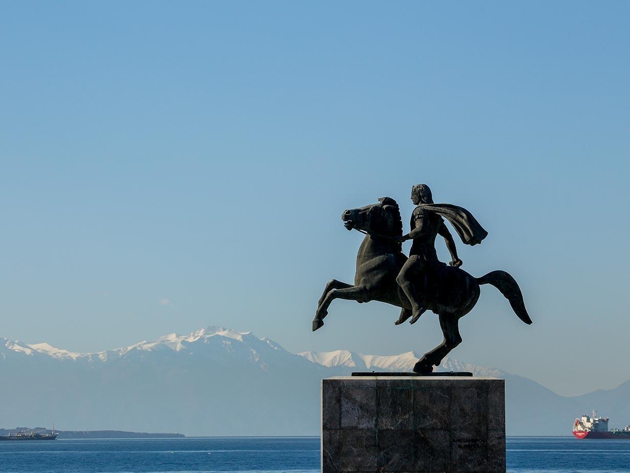 Nagy Sándor szobra (Forrás: www.thesszaloniki.travel)