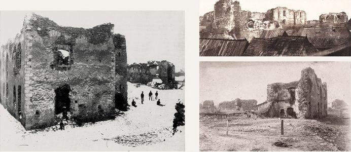 A még álló palotamaradványok a XIX. század végén (Forrás: www.hrmuzeum.ro)