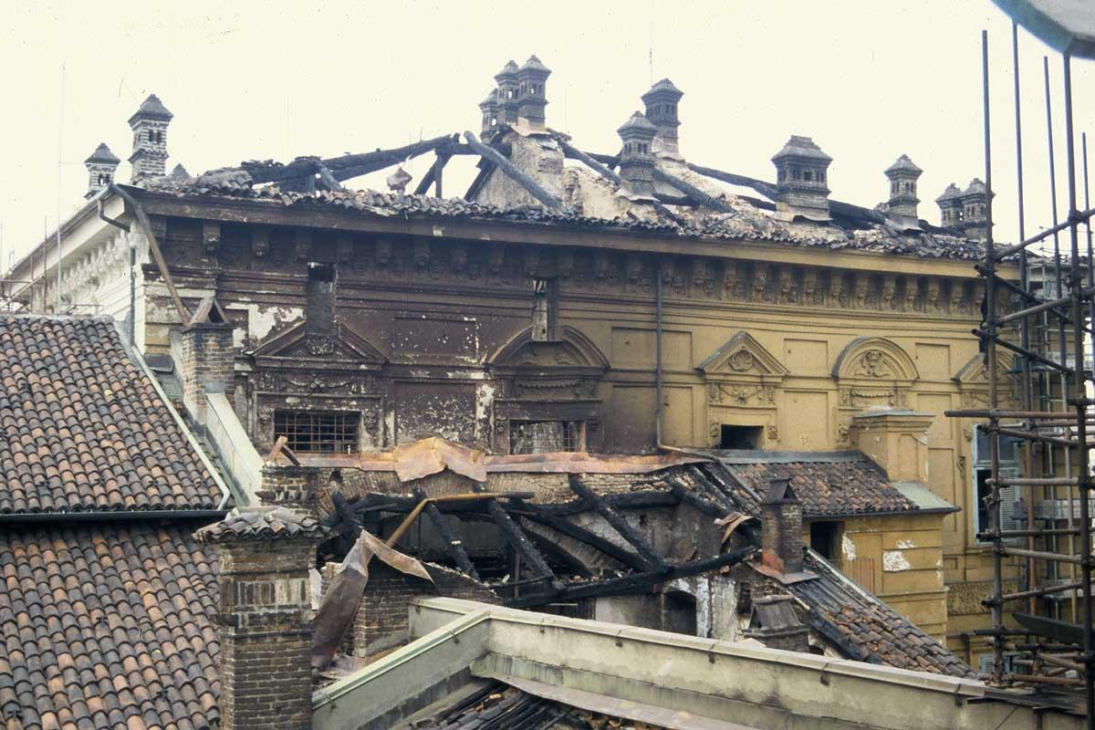 33_Az 1997-es tűzvész nyoma (Forrás: www.museireali.it)