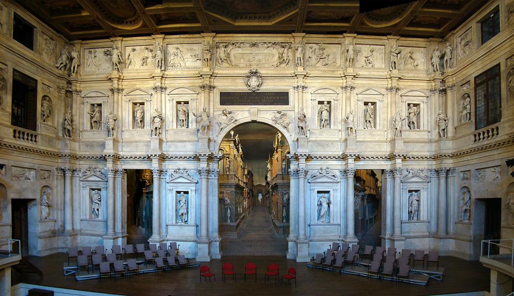 A Teatro Olimpico színpada (forrás: Wikipédia)