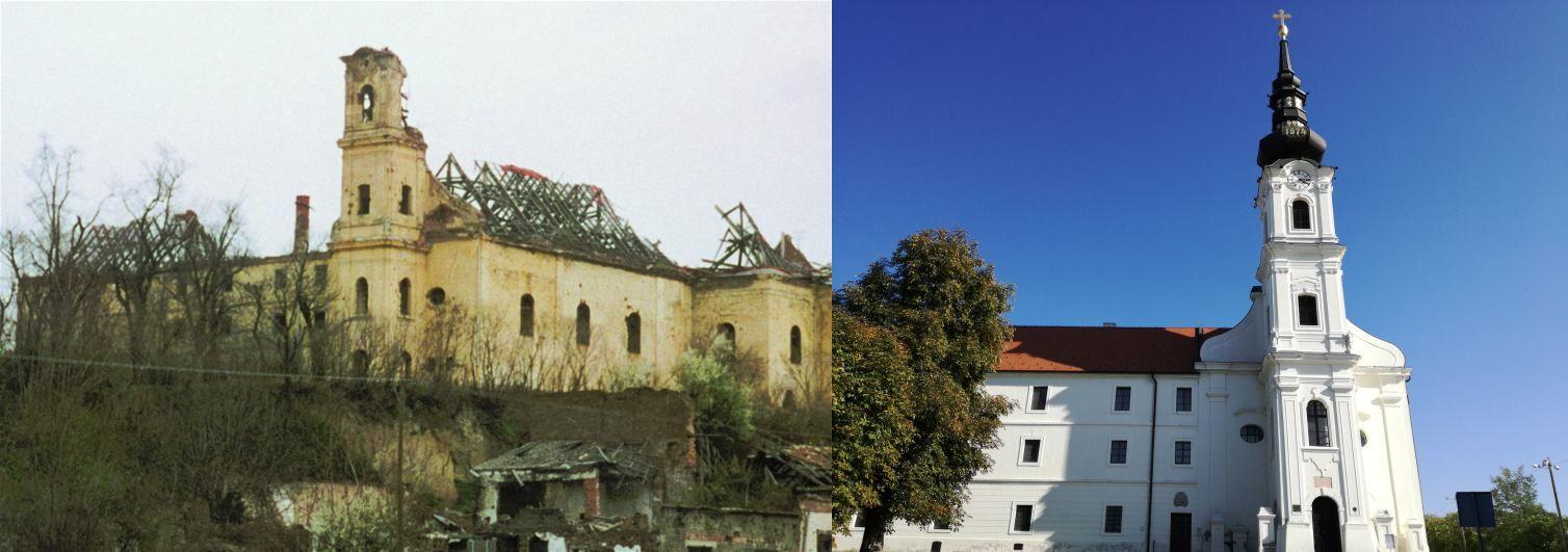 Templom akkor és most (1. kép forrása: www.min_kulture.hr)