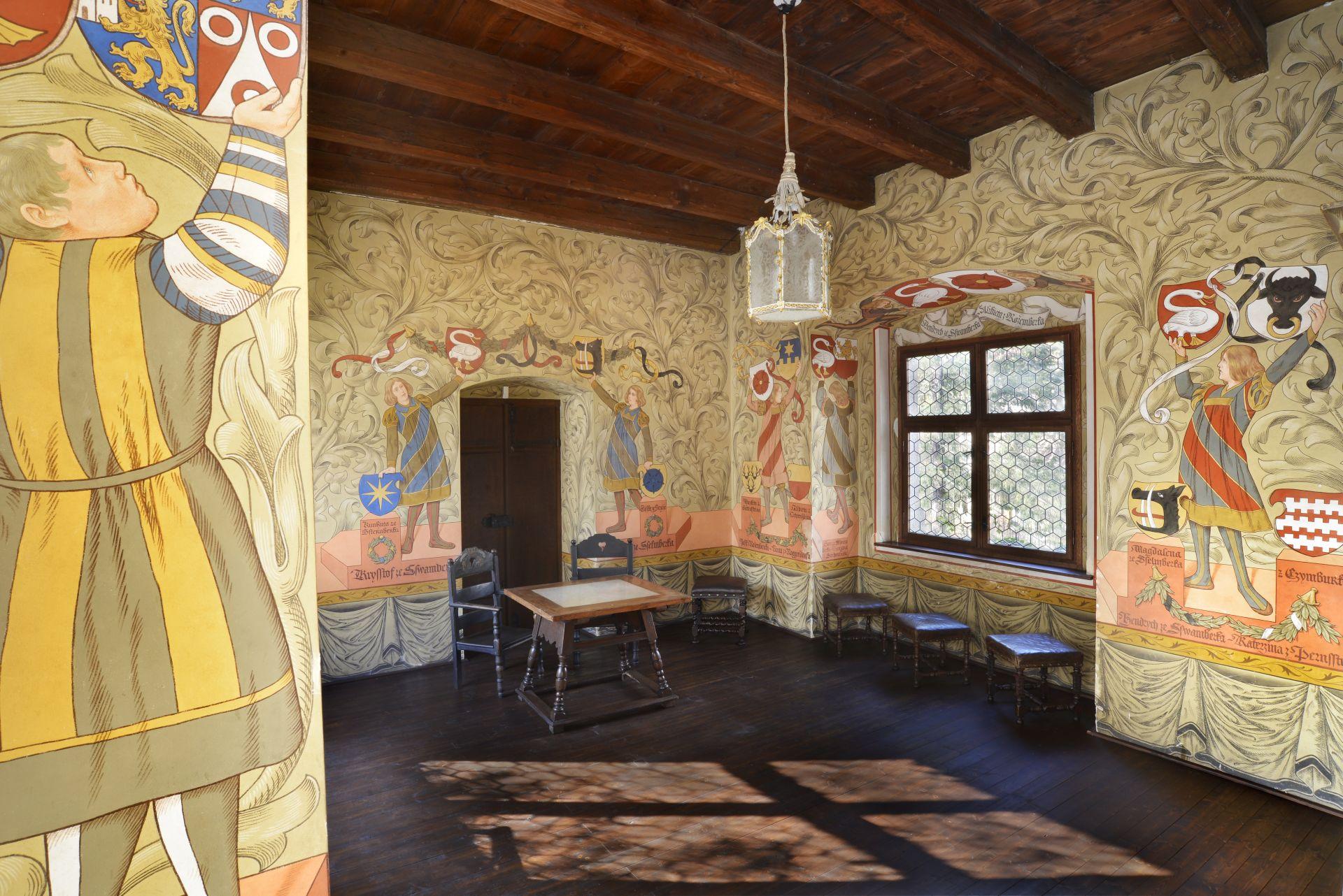 Díszített terem (Forrás: www.hrad-zvikov.eu)