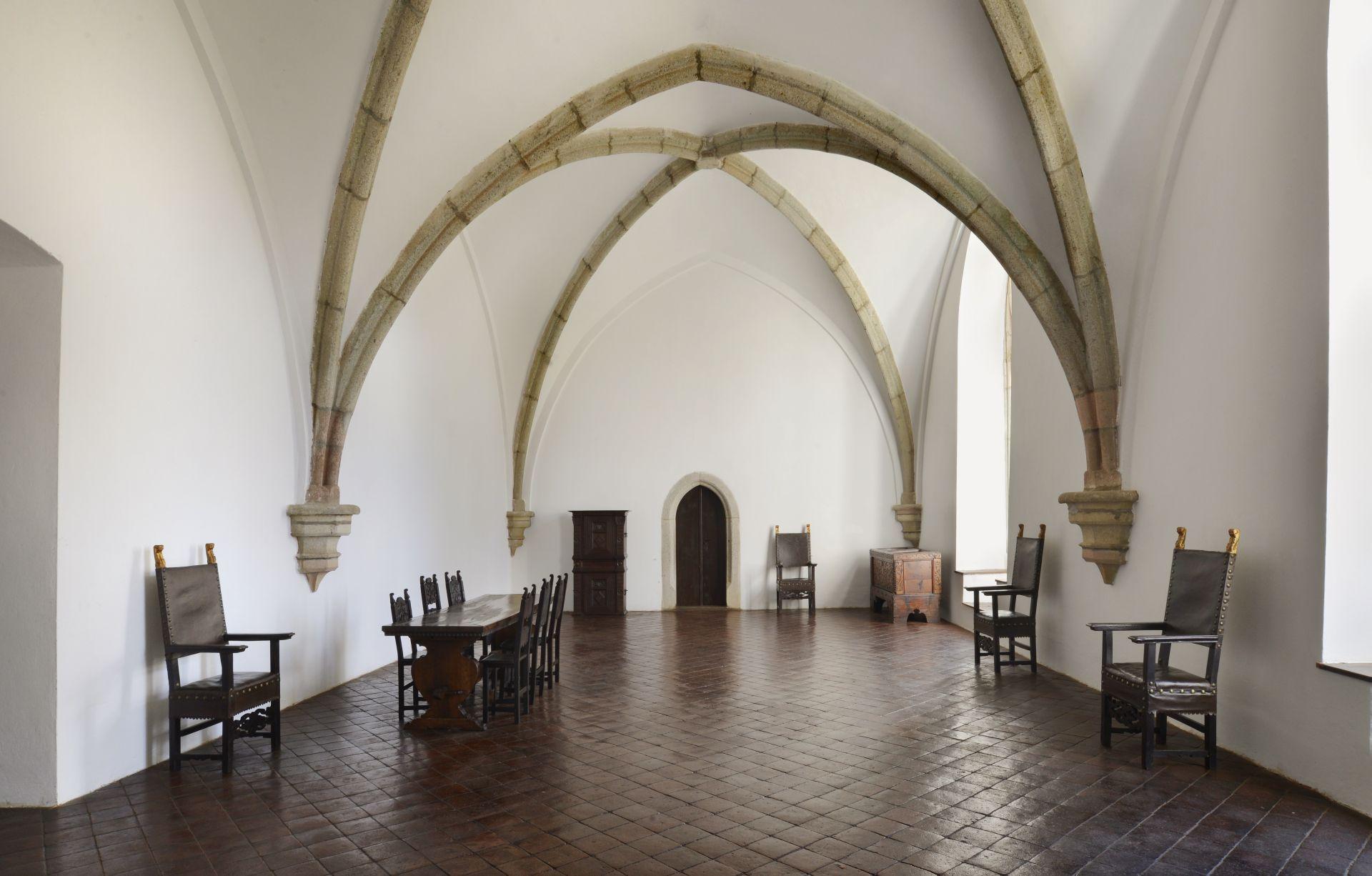 Lovagterem (Forrás: www.hrad-zvikov.eu)