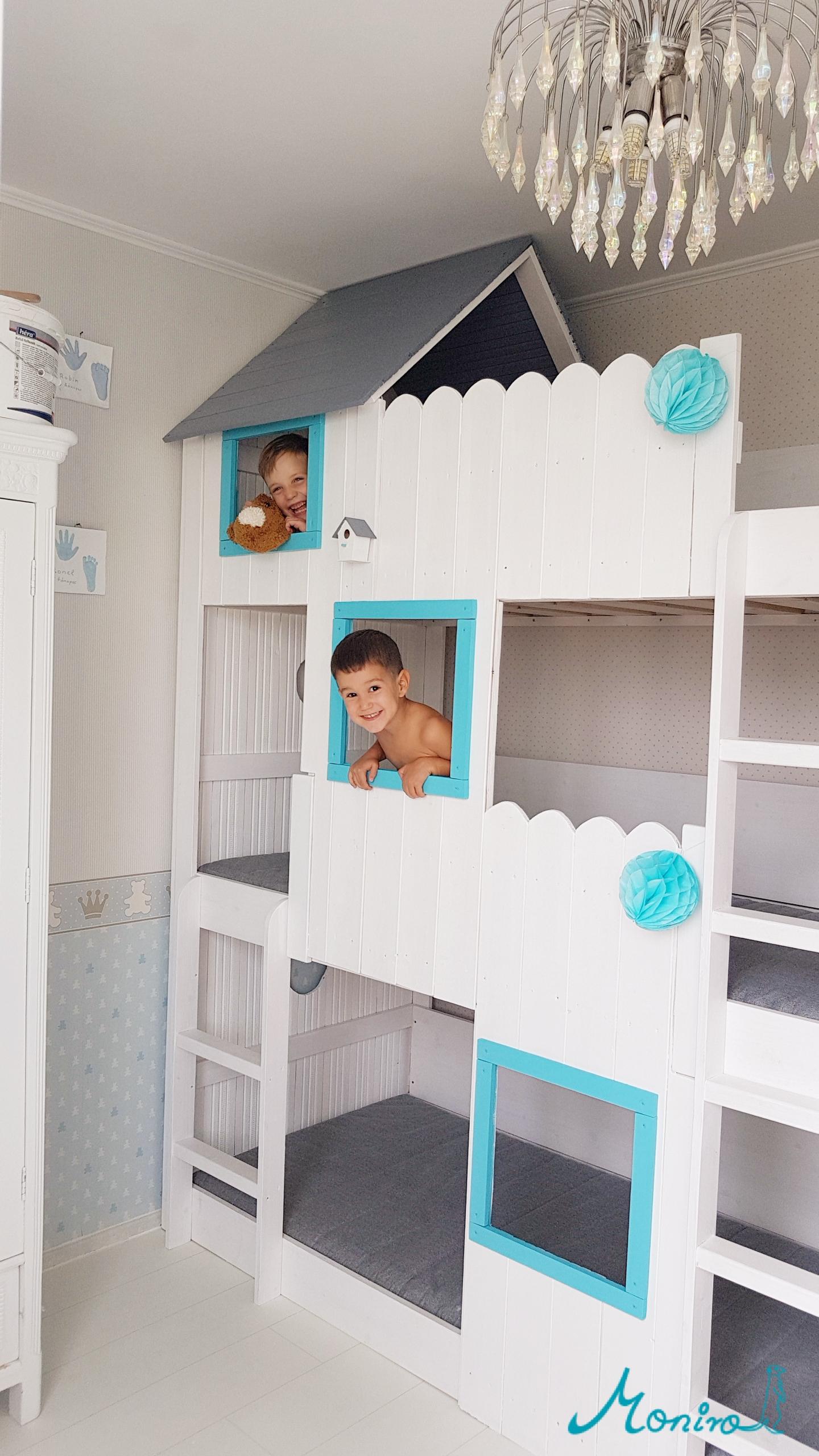 Hogyan készítettem 3 emeletes házikó ágyikót