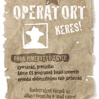 Operátort keresünk!
