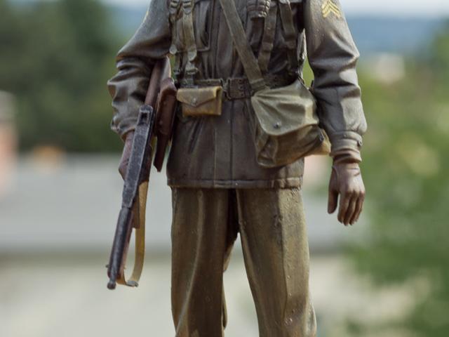 MAKETT: Amerikai őrmester 1945-ből