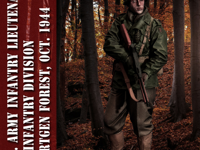 MAKETT: Amerikai gyalogostiszt a Hürtgeni-erdőből