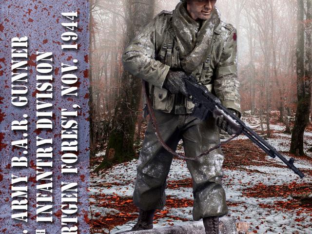 MAKETT: Amerikai gyalogos a Hürtgeni-erdőből